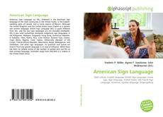 American Sign Language的封面