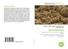 Couverture de Decomposition
