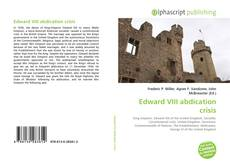 Bookcover of Edward VIII abdication crisis