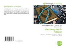 Bookcover of Blasphemy law in Pakistan