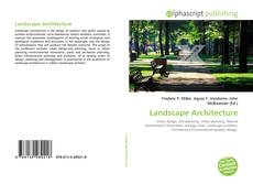 Couverture de Landscape Architecture