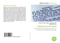 Bookcover of Baptism for the Dead