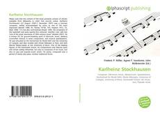 Bookcover of Karlheinz Stockhausen