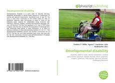 Bookcover of Developmental disability