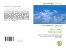 Capa do livro de Hierarchical Incompetence