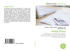 Capa do livro de Hodge theory