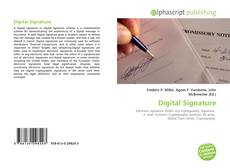Bookcover of Digital Signature