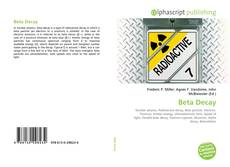 Bookcover of Beta Decay
