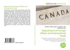 Bookcover of Department of Foreign Affairs and International Trade