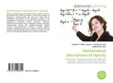 Mathematical Descriptions of Opacity kitap kapağı