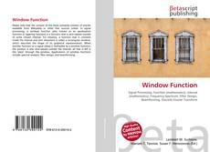 Copertina di Window Function