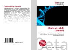 Bookcover of Oligonucleotide synthesis