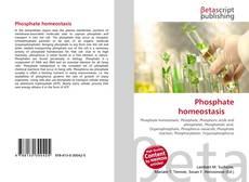 Buchcover von Phosphate homeostasis