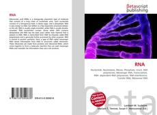Bookcover of RNA
