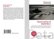 Bookcover of Naval warfare of World War I