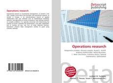 Обложка Operations research