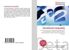 Bookcover of Variational inequality