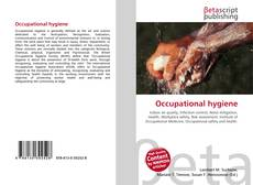 Couverture de Occupational hygiene