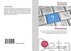 Bookcover of Uncertainty