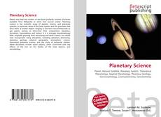 Bookcover of Planetary Science