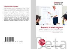 Bookcover of Presentation Program