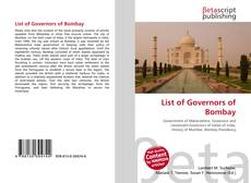 Bookcover of List of Governors of Bombay