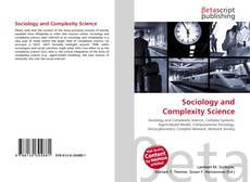 Bookcover of Sociology and Complexity Science