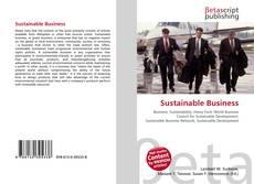 Couverture de Sustainable Business