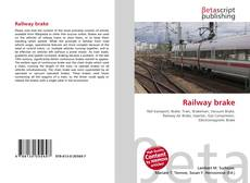 Bookcover of Railway brake