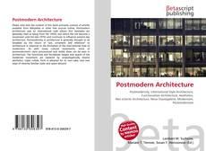 Portada del libro de Postmodern Architecture