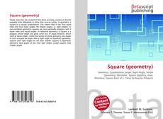 Bookcover of Square (geometry)