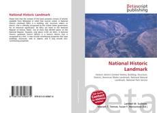 Bookcover of National Historic Landmark