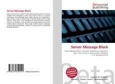 Bookcover of Server Message Block