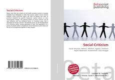 Bookcover of Social Criticism