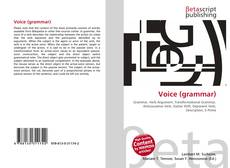 Bookcover of Voice (grammar)