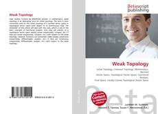 Bookcover of Weak Topology