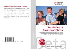 Bookcover of Social Effect of Evolutionary Theory