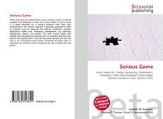 Bookcover of Serious Game