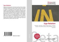 Bookcover of Sign Relation