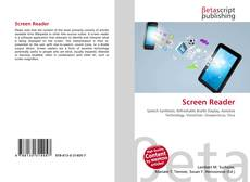 Bookcover of Screen Reader