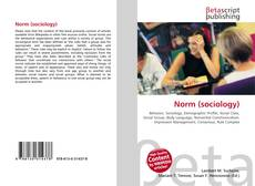 Bookcover of Norm (sociology)