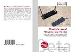 Bookcover of Newton's Law of Universal Gravitation