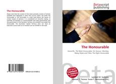 Bookcover of The Honourable