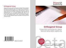 Copertina di Orthogonal Group