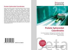 Bookcover of Prolate Spheroidal Coordinates