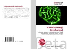 Capa do livro de Phenomenology (psychology)