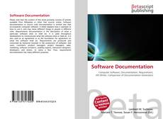 Bookcover of Software Documentation