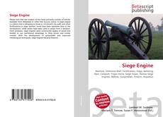 Bookcover of Siege Engine