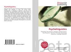 Обложка Psycholinguistics
