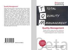 Buchcover von Quality Management